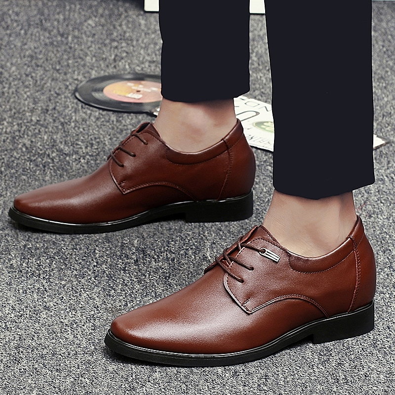 Man Business Shoes Casual Design Dress Shoe Brown 38 Kilimall Kenya