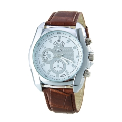 Men's Business Style PU Leather Band black