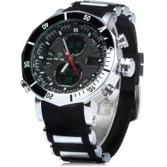 Men's Quartz Clock Digital LED Watch Army Military Sport Watch black