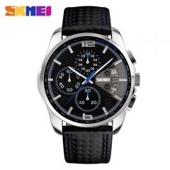 Men Sport Watch Leather 3ATM Waterproof Date Clock Luxury Business Fashion Watch relogio masculino blue