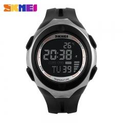 Men Light Waterproof Date Alarm Digital LED Sport black