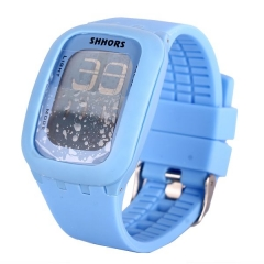 Fashion candy color Touching Screen Watches blue