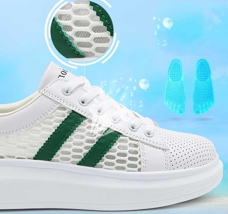 white shoes fashion sport shoes mesh breathbale