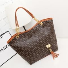 New fashion lady all-match zipper bag brown free size