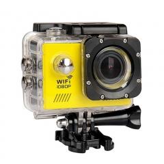 SJ7000 Action Camera Wifi Waterproof Outdoor Sports Camcorder Helmet Riding Recorder Yellow 25cm*12cm*6cm