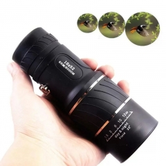 Sport Camping Telescope Handheld Day & Night Vision 16x52 HD Optical Monocular Hunting Hiking black 10CM