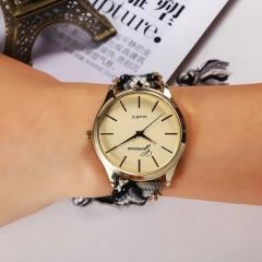Women Girl Ladies Quartz Watch Fashion Hand-Woven Rope Bracelet WristWatch white