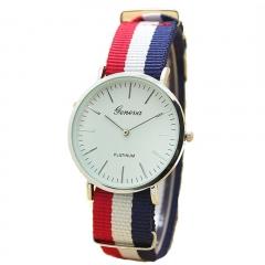 Men Male Quartz Watch Fashion Casual Geneva Fabric Nylon Canvas Military Wrist Watch 1 28cm