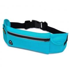 Outdoor Waterproof Multi-functional Men Women Sport Waist Bag Running Belt Mountaineering Bag blue 100cm