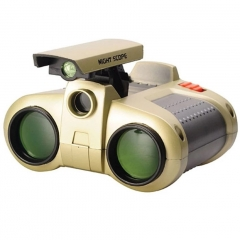 4 x 30  Viewer TeleScope Binoculars with POP Up Light Telescope Toy Gift for Children Kids Green 6cm