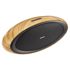 Remax HiFi 3D Desktop NFC Wireless Wooden Bluetooth Portable Speaker Stereo Music Super Bass
