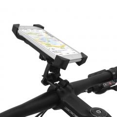 Universal Bike Motorcycle Holder Accessories Handlebar Clip Mount Bracket For Smart Phone GPS black