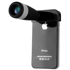 Eyeskey iphone Lenses Light Weight 8X Telescope Monoculars Wide Angle Camera Lens black 6cm