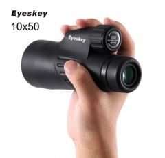 Eyeskey  Waterproof Monocular Binoculars Telescope  Optics  Camping Hunting Wildlife Spotting Scopes black 12cm
