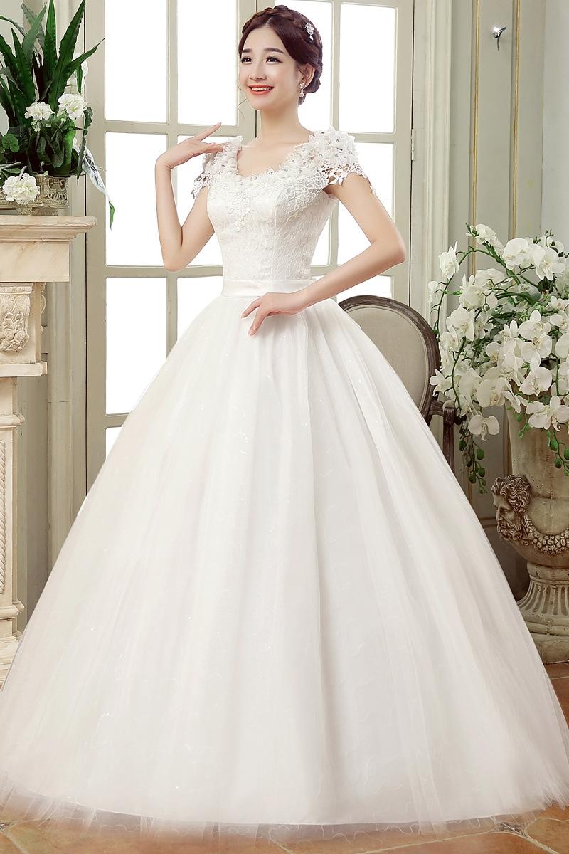 Lace flower wedding dress white s kilimall kenya for Wedding dress shops in ohio