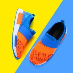 Children comfortable breathable high elastic shoes 1702V orange 38