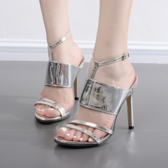 Star models Ding word buckle with fine high heels FD836-3 silver 35