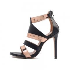 Serpentine toe cross strap high heels FD836-6 blue 35
