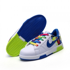 Boys and girls breathable casual shoes 5650 blue 31