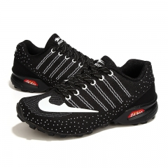 Flying sports shoes breathable light running shoes 5809 black 39