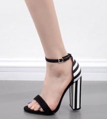 Zebra simple classic with coarse sandals FD895-6 black 35