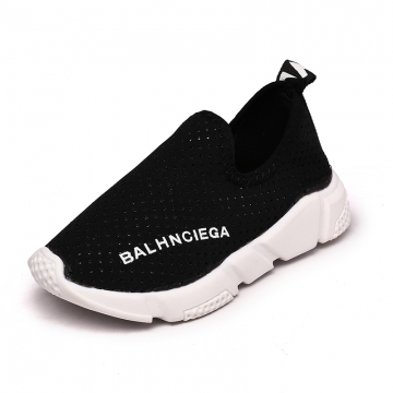 Children's shoes Baotou children hollow casual shoes 888 black 32