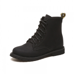 New wear and mortar Martin boots women's high boots with flat bottom boots XLL&036 black 35