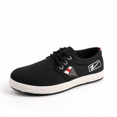 New low canvas men's casual shoes A129 black 39