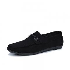 Men's breathable casual shoes feet lazy shoes 175 balck 39