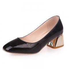 Female retro square head with coarse shoes 528 black 35