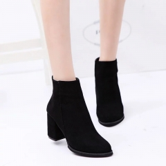 Women 's fashionable pointed Martin boots high - heeled short boots with boots ygme&H8016 black 35