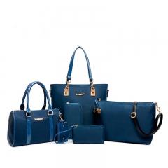 Lady's Handbag Messenger Crossbody Women's Shoulder  Bag 6 Sets blue one size