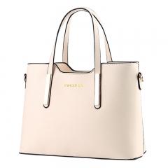 Women Commuter type fashion handbag Crossbody Shoulder Handbag ivory one size