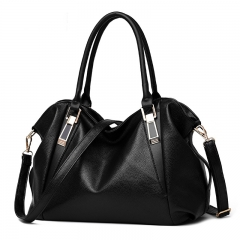 PU Leather Bags Handbags Ladies Portable Shoulder Bag black one size