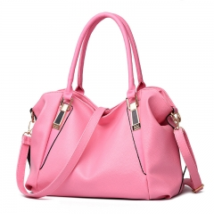 PU Leather Bags Handbags Ladies Portable Shoulder Bag pink one size