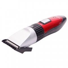 Rechargeable Electric Hair Clipper Shaver Cutter Home Barber EU Plug Red & Black Red & Black