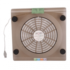 """USB Cooling Big Fan LED Light Cooler Pad for Laptop 14.1""""-15.4"""" PC Notebook Translucent Tawny one size"""