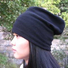 Multi-functional Single Layer Fleece Scarves Bandanas Unisex Neckerchief one size black