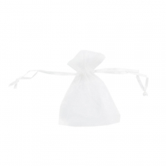 5Pcs Organza Favor Bags Wedding Christmas Gift Candy Pouches white one size
