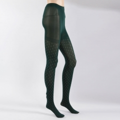 Womens Sexy Tights Lady Dot Pattern Fashion Pantyhose Stockings Leggings Free Size Dark Green