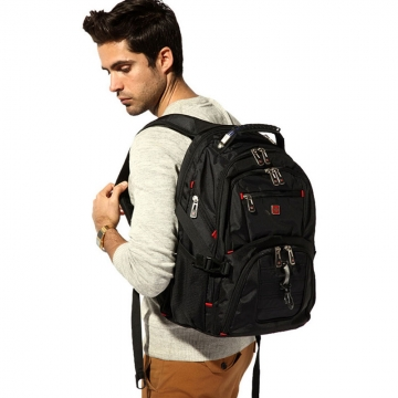 Laptop Bag Travel School Satchel Backpack Rucksack black one size