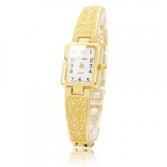 Fashion Women Girl Lady Bracelet Stainless Steel Digital Quartz Wrist Watch Gift golden