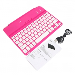 Wireless Bluetooth 3.0 Keyboard with Stand for iPad Air rose red one size