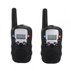 2Pcs LCD UHF Auto Channels Two-Way Radio Wireless Walkie Talkie T-388 Black