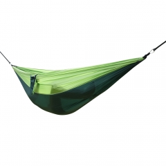 Double Outdoor Hammock Swing Bed Portable Parachute Nylon Fabric Blackish green one size