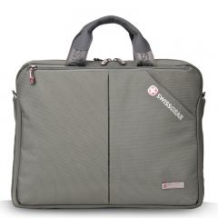 "Men SwissGear 14"" Laptop handle Bag Notebook Shoulder Briefcase Messenger Bags gray one size"