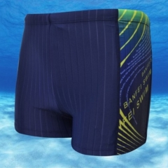 Men Quick-dry Flat Printing Swimming Trunks Boxers XL blue xl