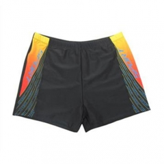 Digital Printing Fashionable Men Flat Swimming Trunks Boxers Hot Spring Swimsuit black 4xl