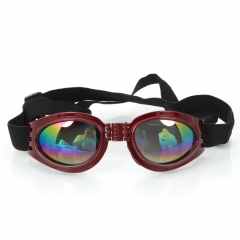 Pet Dog Fashion Sunglasses Goggles UV Eye Wear Protection of Wind Rain red one size