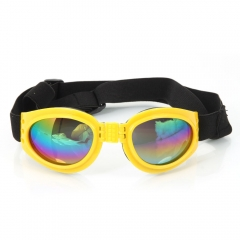 Hot Strap Design Pet Dog Doggy Sunglasses Glasses Eye Protection yellow one size